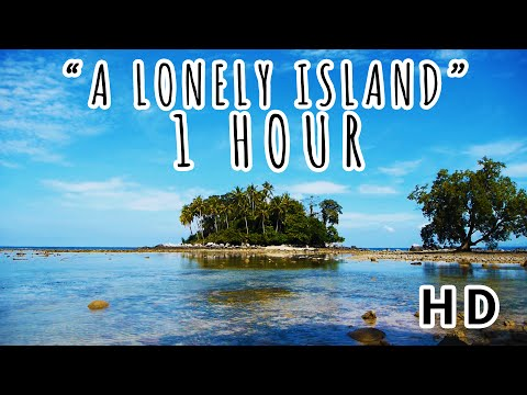A LONELY ISLAND I Rippling Ocean Water on Bali, Thailand I 1 HOUR 2017 (HD)