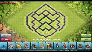 Clash of Clans - TH8 Farming Base Speedbuild [4 MORTARS]