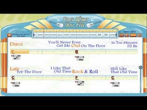 Old Time Rock & Roll - Bob Seger - Guitaraoke, Chords & Lyrics, Guitar Lesson - playwhatyoufeel