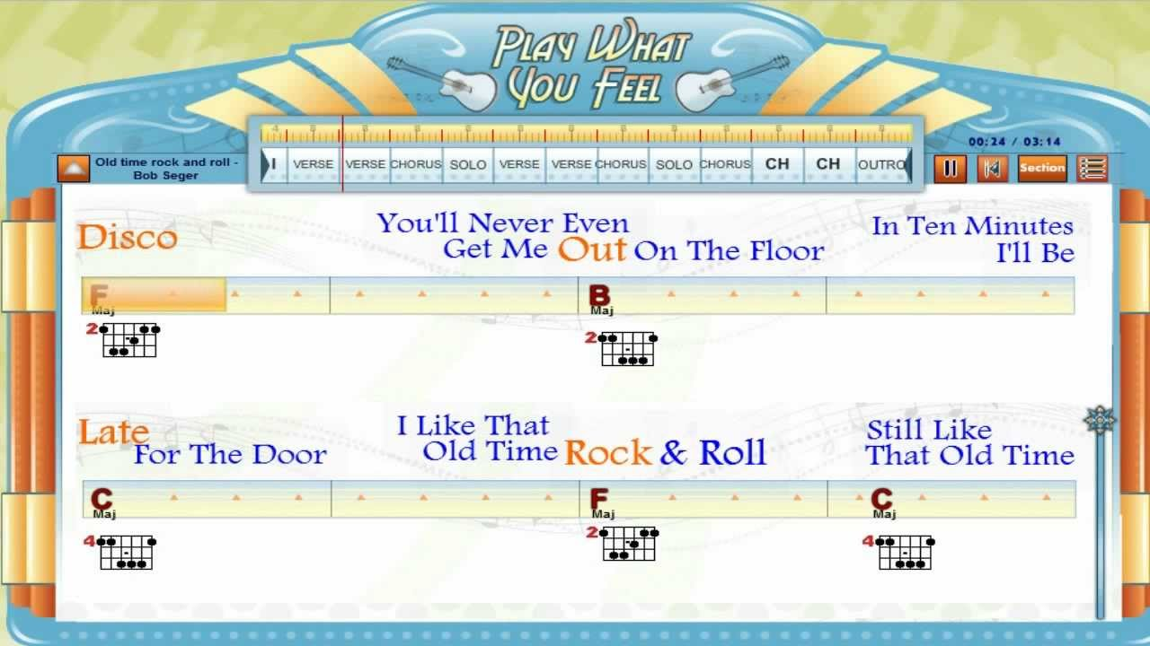 old time rock and roll chords pdf