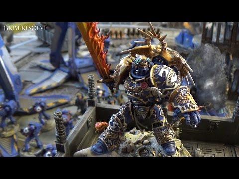 Ultramarines vs Black Legion II 2500pts Roboute Guilliman Altar of War Kill Them All 40k
