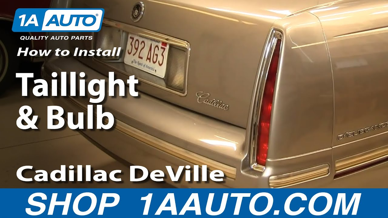 how to replace tail light and bulb 94 99 cadillac deville [ 1280 x 720 Pixel ]