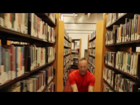 Phil dancing in the Reference Library!