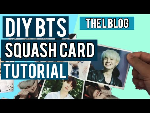 BTS DIY heart squash card tutorial (jin,rm,suga,jhope,jimin,v,jungkook) BTS scrapbook idea