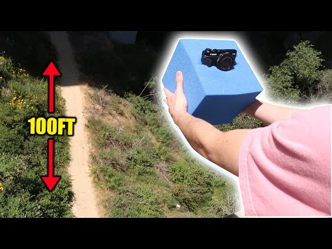 CAN A FOAM CUBE PROTECT MY CAMERA FROM A 100FT DROP?! | FaZe Rug