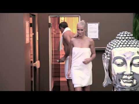 Sauna Frau ohne Störer