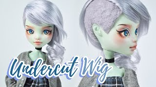 How to Make a Doll Wig | Undercut | Mozekyto #11