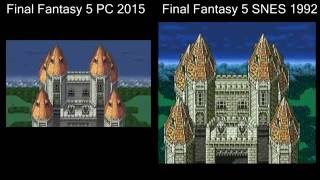 Final Fantasy 5 SNES vs Steam, Side by Side Comparison