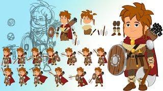 Animar en 2D: Personajes de animación para juegos en flash/animate cc.