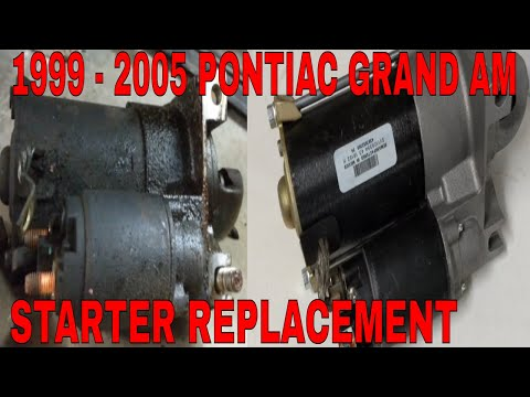 HOW TO REMOVE AND INSTALL A STARTER ON A PONTIAC GRAND AM 1999 – 2005