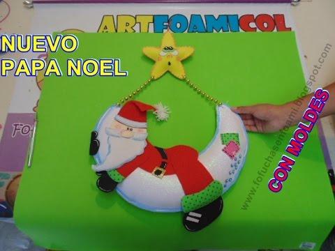 Nuevo adorno navide o papa noel o santa claus en foamy - Figuras fieltro navidad ...