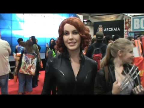 Comic Con 2013 Black Widow Cosplay Interview Youtube