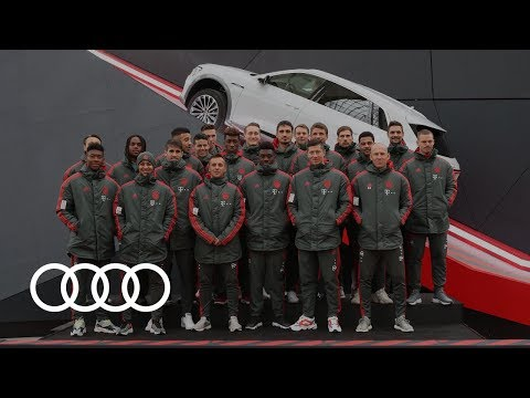 FC Bayern tests the Audi e-tron at Munich Airport | e-tron d