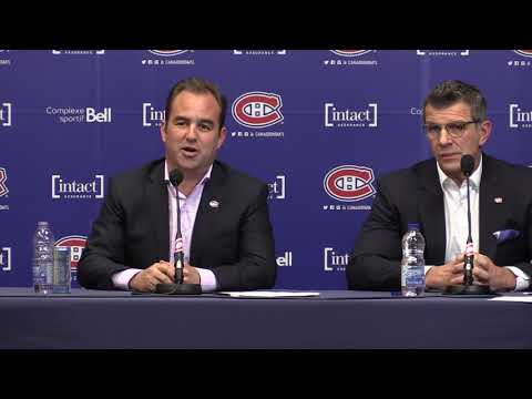 Canadiens president and co-owner Geoff Molson meets the media