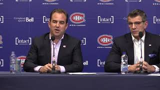 Canadiens president and co-owner Geoff Molson meets the media thumbnail