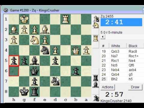 Chess World.net presents Blitz #580 vs Zq (2455) Queen's pawn game (Chessworld.net)