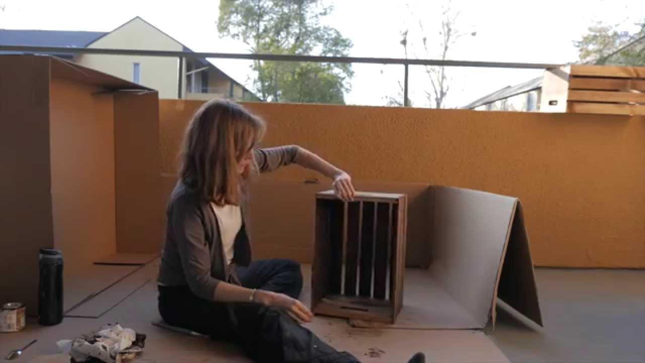 Pintar una caja de madera youtube Pintar caja madera