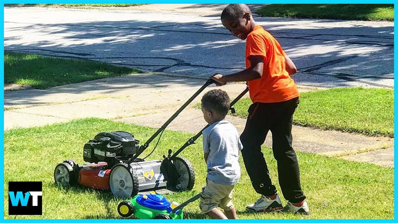 Neighbor Calls POLICE on 12-Year-Old Mowing The Lawn?!   What's Trending Now!