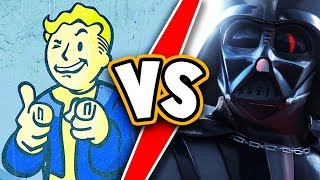 Fallout 76 VS Battlefront 2! Who did it WORST? Canvas bag or Star Wars BF II loot box drama!