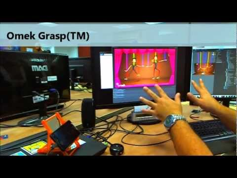 control an on screen marionette using finger tracking