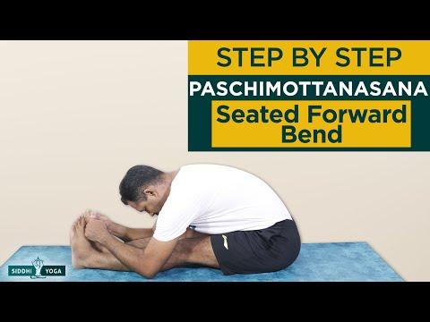 Paschimottanasana (Seated Forward Bend Pose) Benefits by Yogi Sandeep Siddhi Yoga