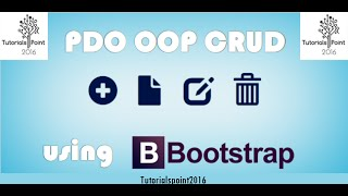 PDO-OOP-PHP-CRUD-with-Bootstrap 2016 (Select Query) | Part-2