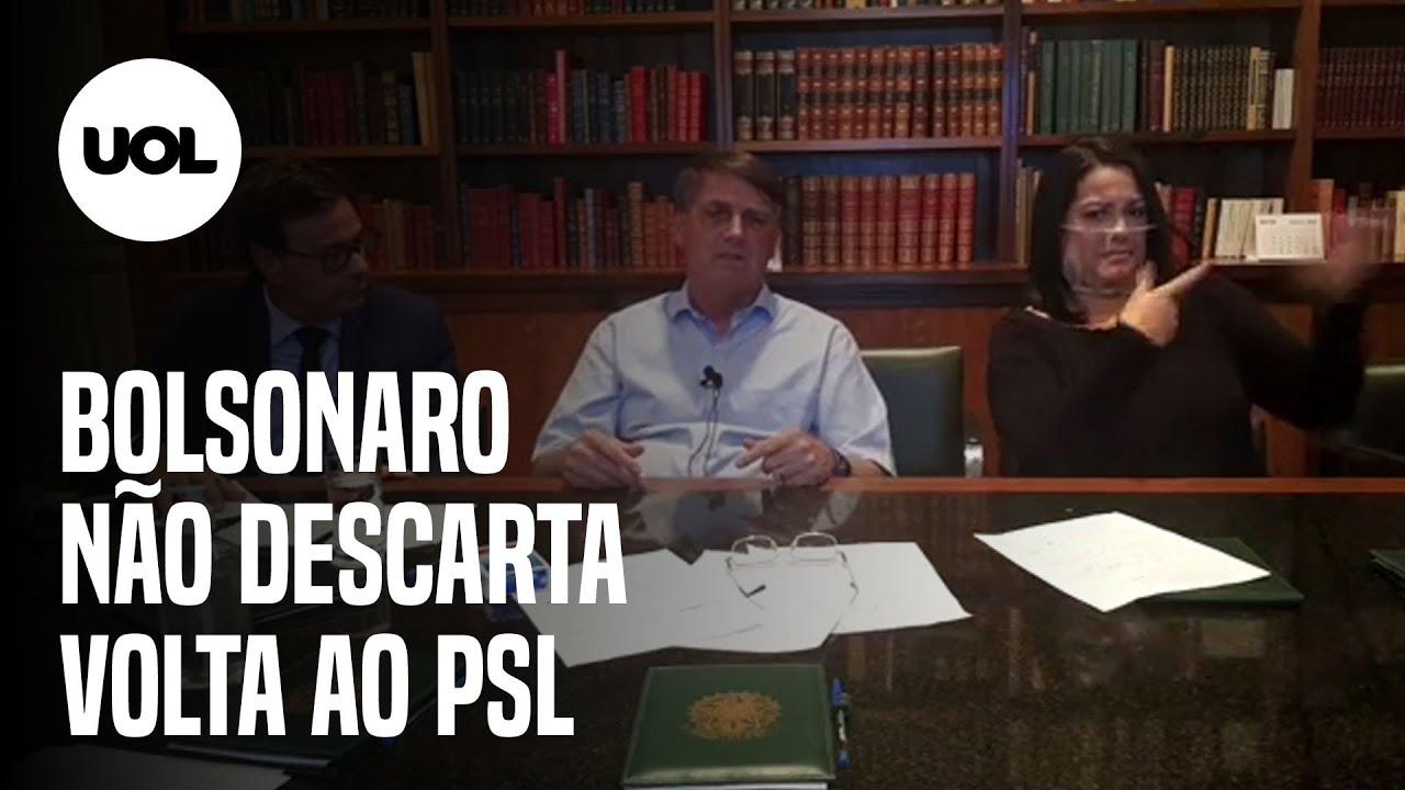 Bolsonaro não descarta volta ao PSL e diz que conversa com três partidos