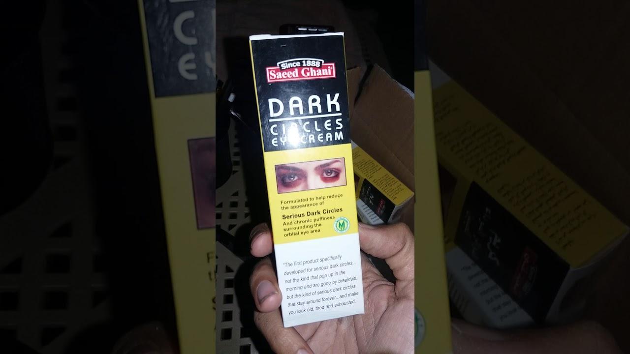 Unboxing Video Of Saed Ghani Dark Circle Eye Cream Youtube