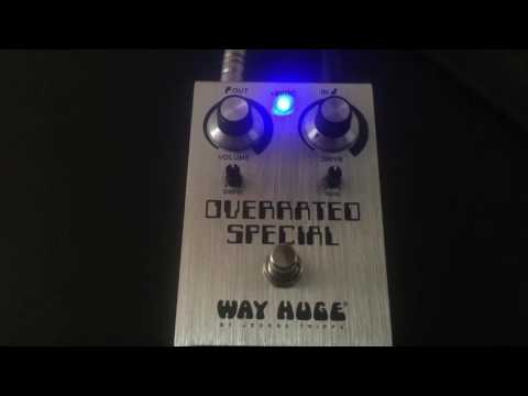 Way Huge Overrated Special pedal (Joe Bonamassa) demo
