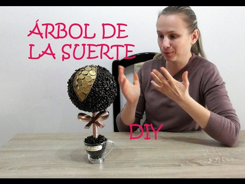 DIY Centerpiece | Tree of money and luck made with coins and coffee, very easy.