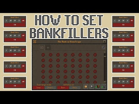 [OSRS] How to Set Bank Fillers