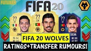 FIFA 20   WOLVES PLAYER RATINGS!! FT. NEVES, JIMENEZ, SILVA ETC... (TRANSFER RUMOURS INCLUDED)