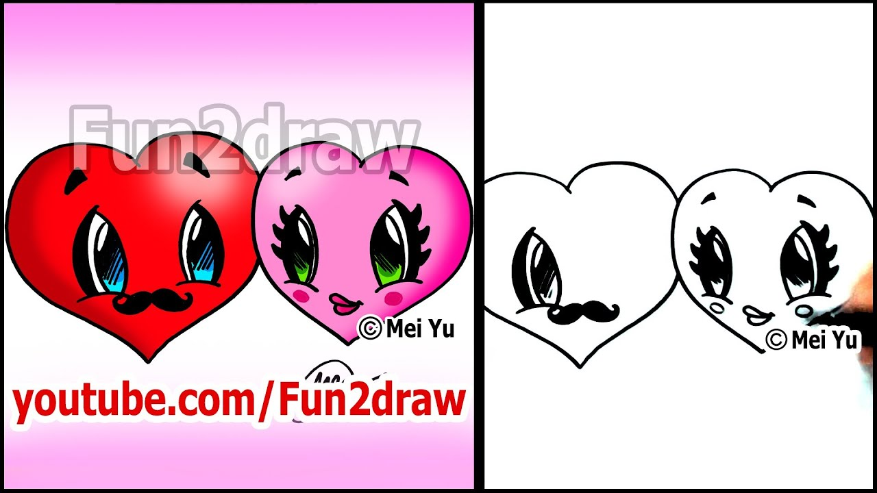 how to draw a heart hearts in love valentine hearts youtube