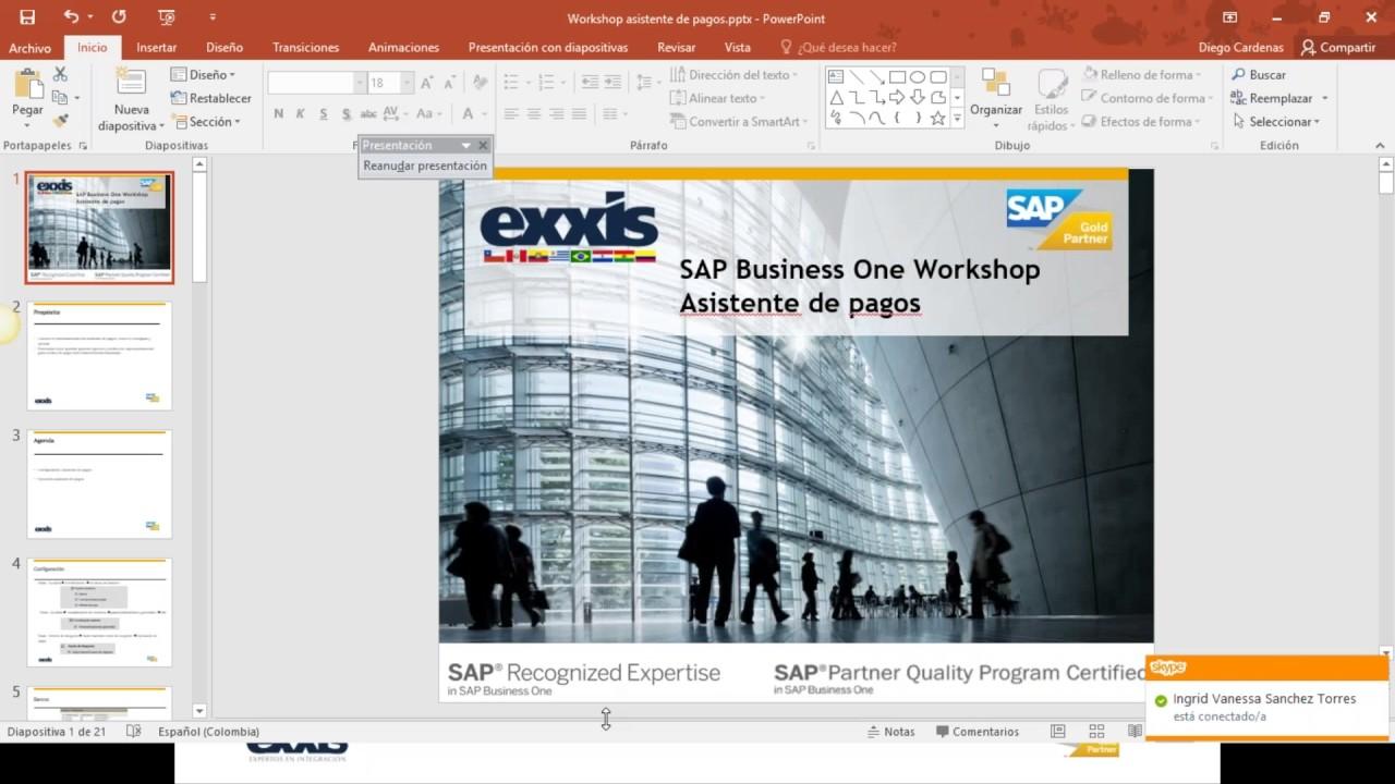 Uso del asistente de pagos en SAP Business One - YouTube