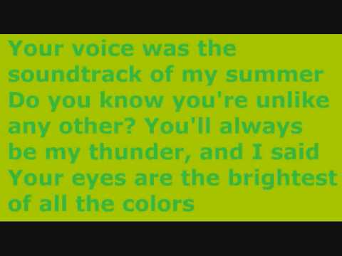 Boys Like Girls  Thunder  Lyrics