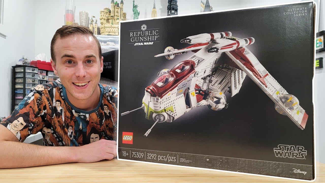 LEGO Star Wars UCS Republic Gunship Unboxing!!