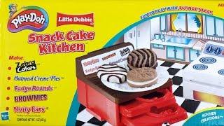 Play Doh Snack Cake Kitchen  Zebra Cakes Vintage Playdough Dessert Playset Thumbnail