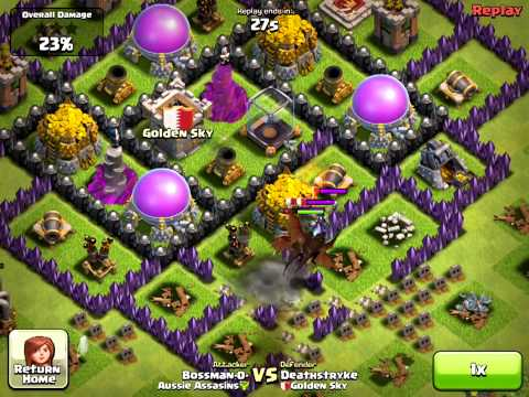 [Clash of Clans] Defense 8 - Clanmate Defense - Lvl2 Witch on Defense