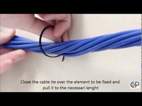 CaP System - universal cable tie installation