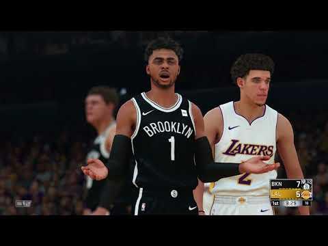 NBA 2K18 - Nets vs. Lakers - Dloading vs. Zo