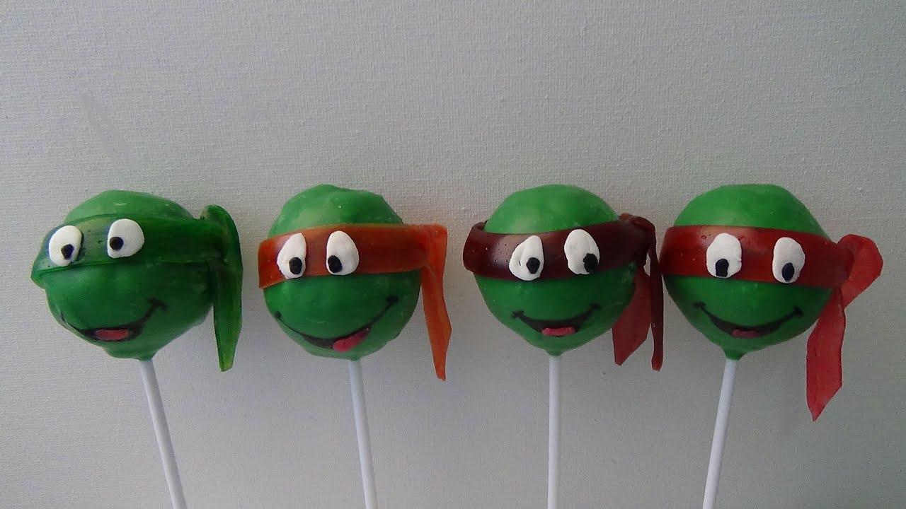 Make Ninja Turtle Cake Pops