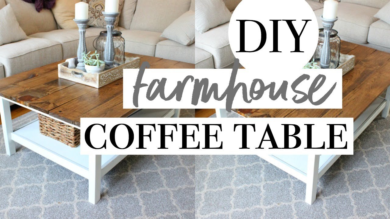 DIY FARMHOUSE COFFEE TABLE | Easy IKEA Hack!