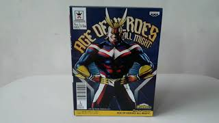 Unboxing All Might Age of Heroes by Banpresto - My Hero Academia