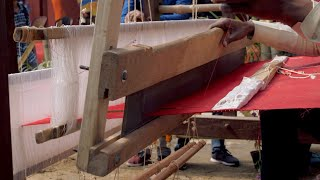 Stock footage of Indian handloom tradition craft Stock Video