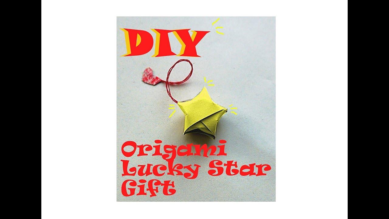 Diy origami lucky star gift idea youtube for Diy lucky stars