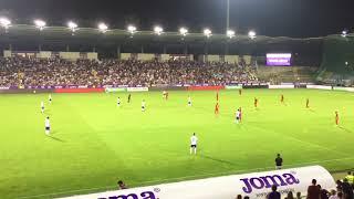 Újpest - Sevilla 1-3 szurkolás, Himnusz