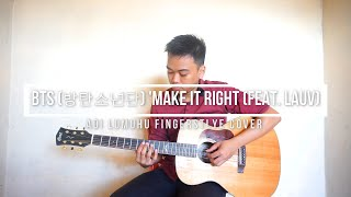 Download BTS 방탄소년단 'Make It Right feat  Lauv (Left-handed Fingerstyle Guitar)