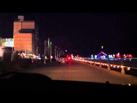 Christmas Lights on the Boardwalk