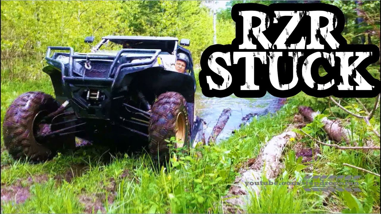 Stuck In Mud Hole Rzr Side By Side Youtube