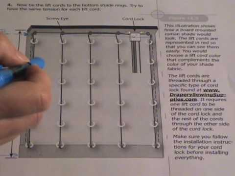 How to make a top down bottom up roman shade youtube how to make a top down bottom up roman shade solutioingenieria Images